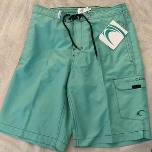 Teal Cove Green Men's Swim Trunks